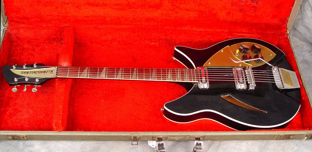 1960 Rickenbacker Capri 365 refinished in Jetglo